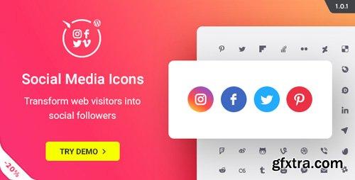 CodeCanyon - WordPress Social Media Icons v1.0.1 - Social Icons Plugin - 20612375