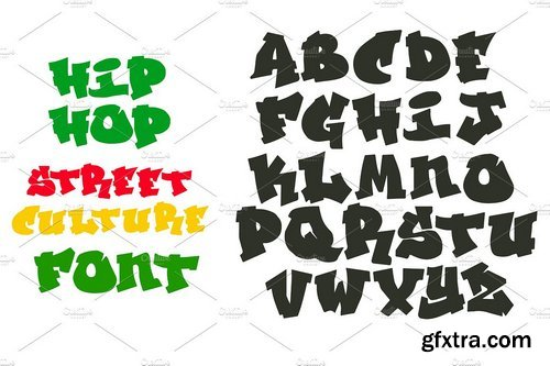 CM - Hip Hop Graffiti font alphabet 1974936
