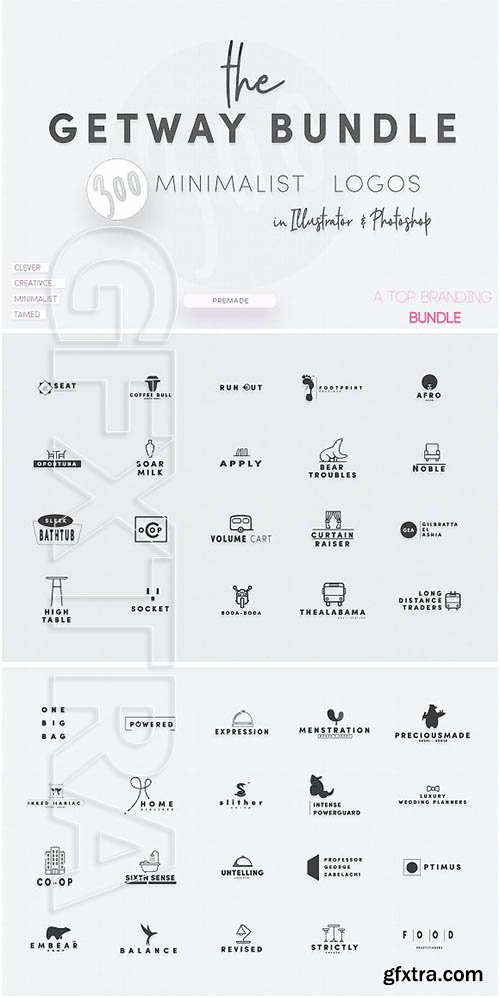 CreativeMarket - Gateway Minimal Logo Bundle 2051587