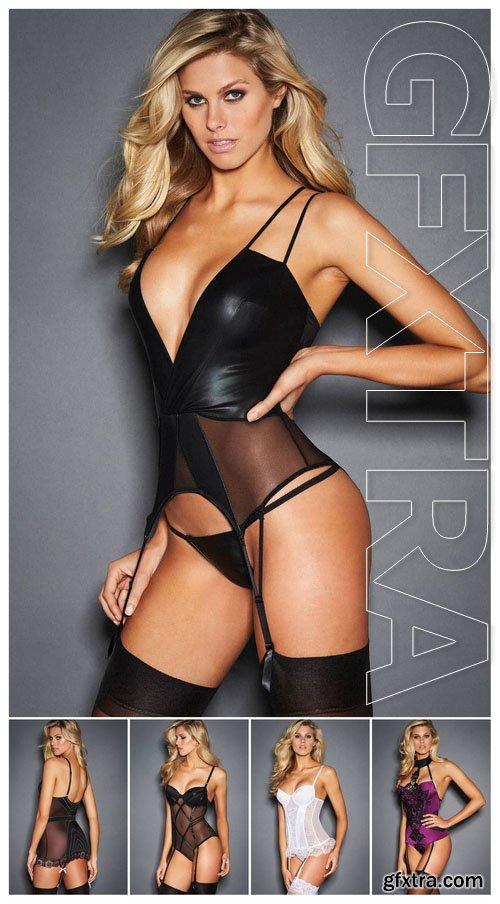 Natalie Jayne Roser - Fredericks of Hollywood lingerie set 2