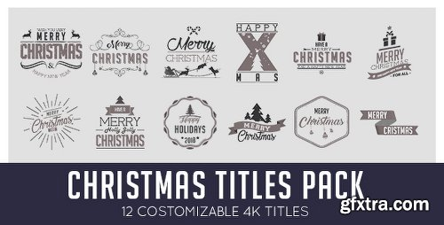 Videohive Christmas Titles Pack 20974428