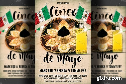 CM - Cinco De Mayo Party Flyer Template 1405537