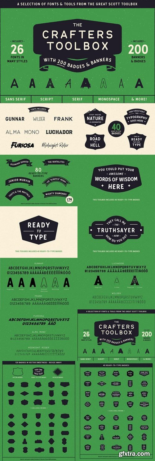 CM - The Crafters Toolbox (Font bundle) 1456152