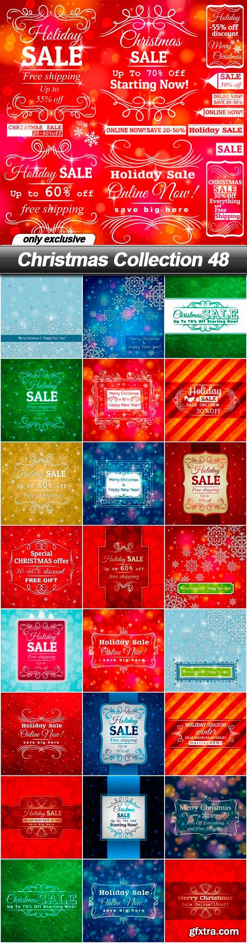 Christmas Collection 48 - 25 EPS