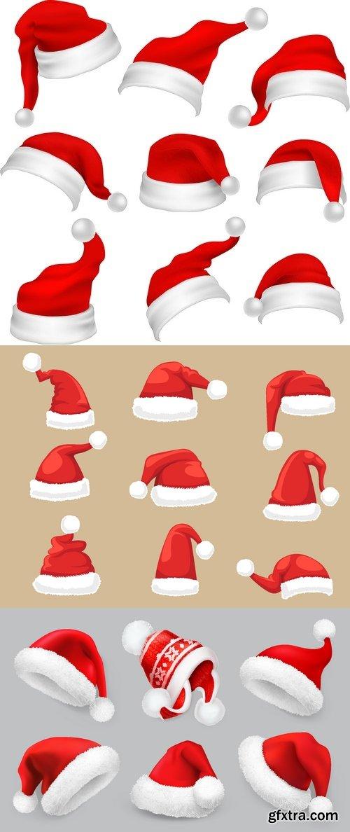 Vectors - Different Santa Hats Mix 2