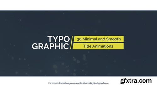 Videohive - Typographic - 30 Title Animations - 20975634
