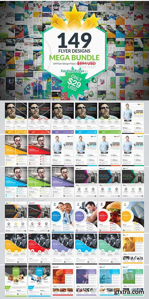 CreativeMarket - 149 Flyer Template Mega Bundle 2080735