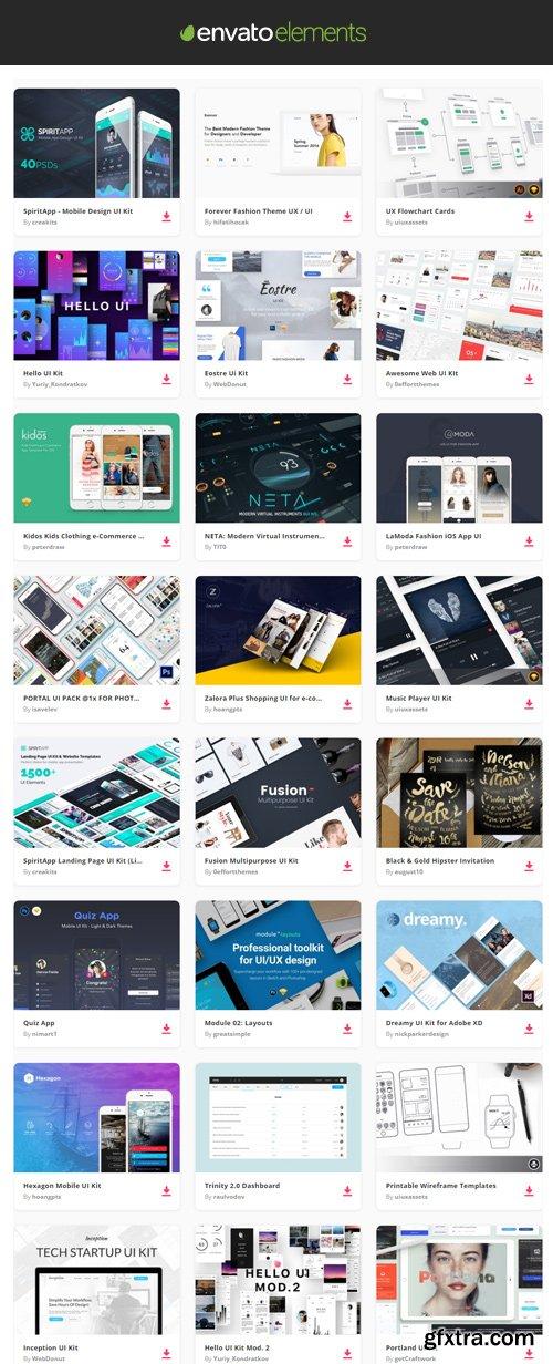 Envato Elements - UX and UI Kits