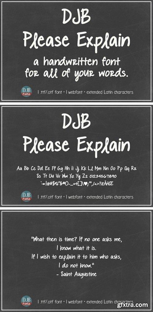 CM - DJB Please Explain 2072374