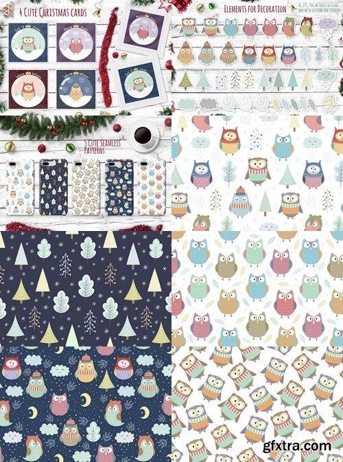 CM - Winter Owls: patterns, illustrations 1999674