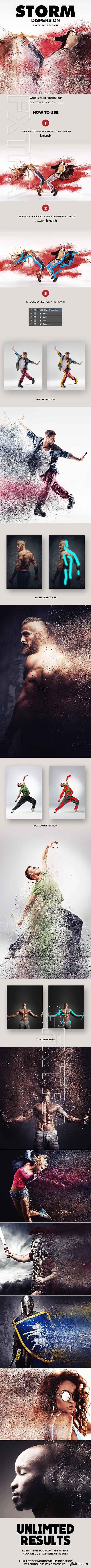 GraphicRiver - Storm Dispersion Photoshop Action 21090142