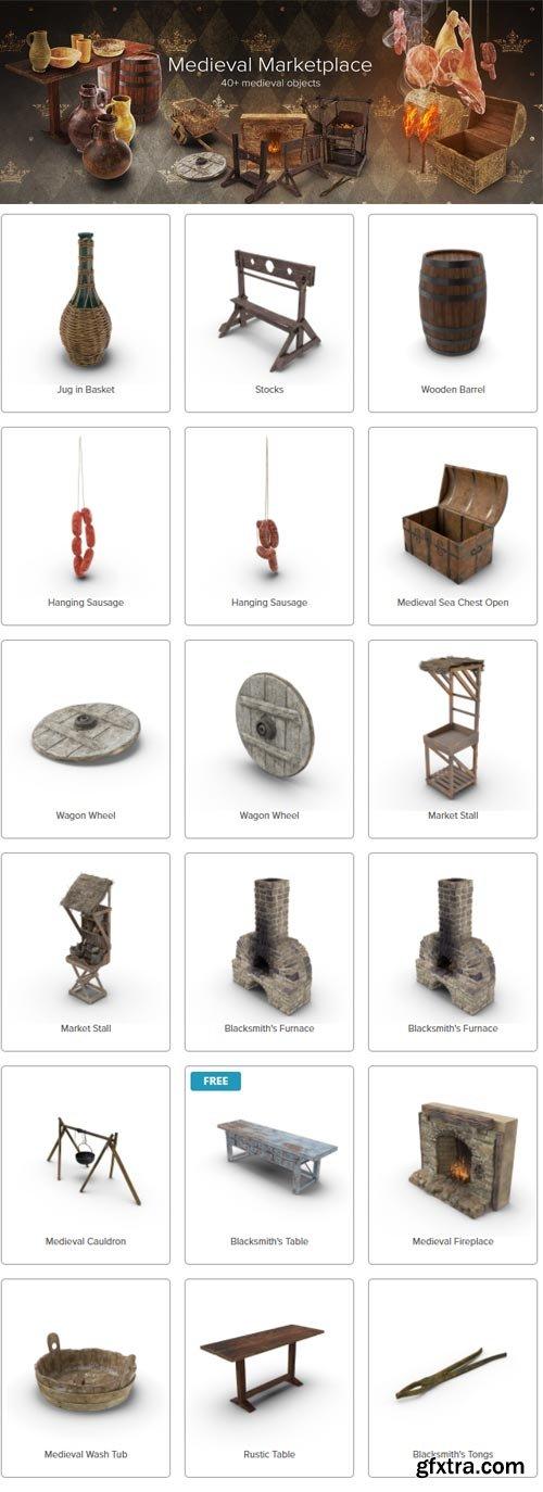 PixelSquid - Medieval Marketplace Collection