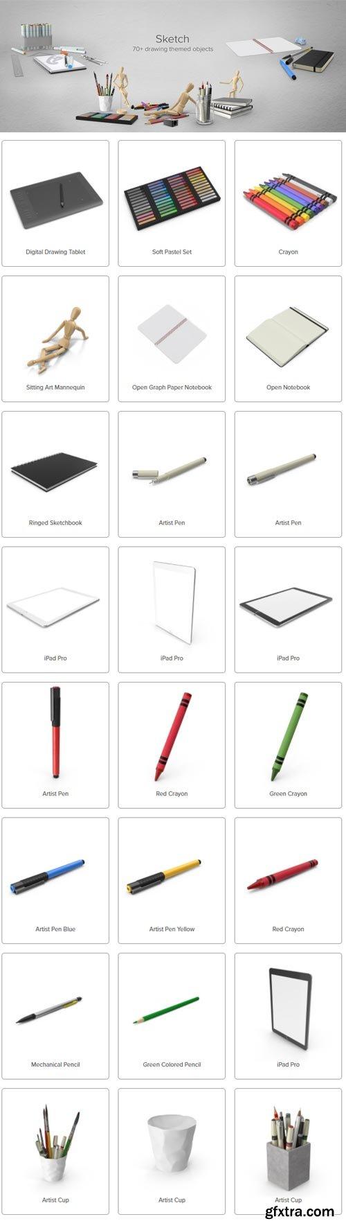 PixelSquid - Sketch Collection