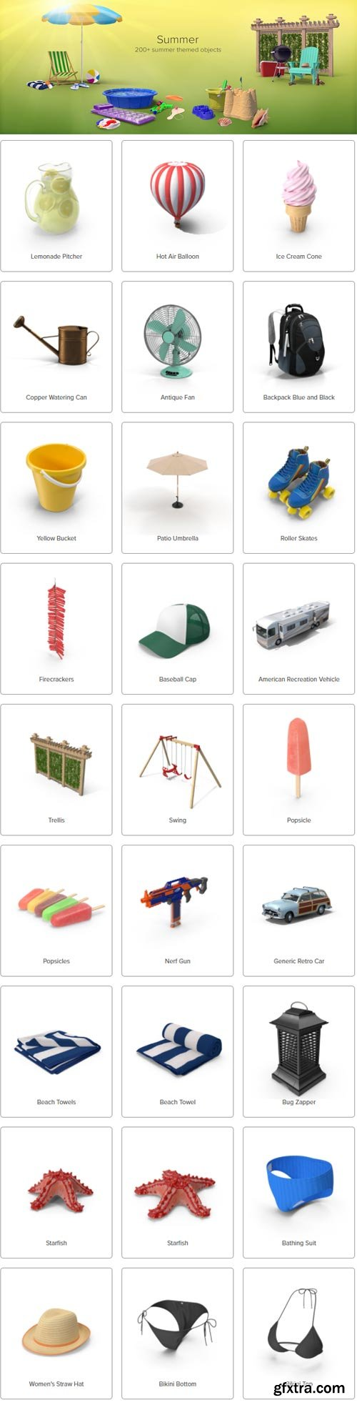 PixelSquid - Summer Collection