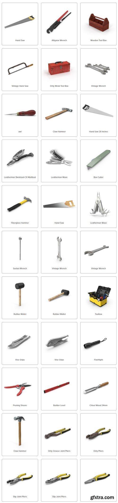 PixelSquid - Hand Tools Collection