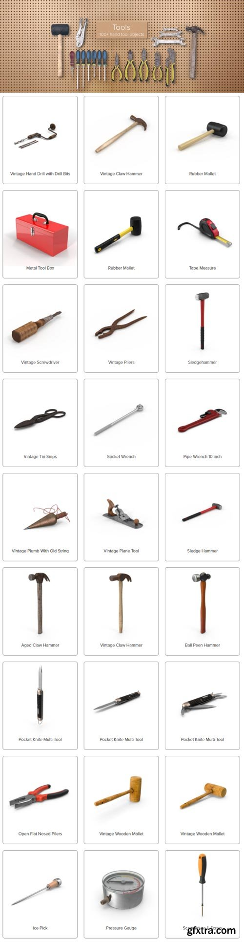 PixelSquid - Hand Tools Collection