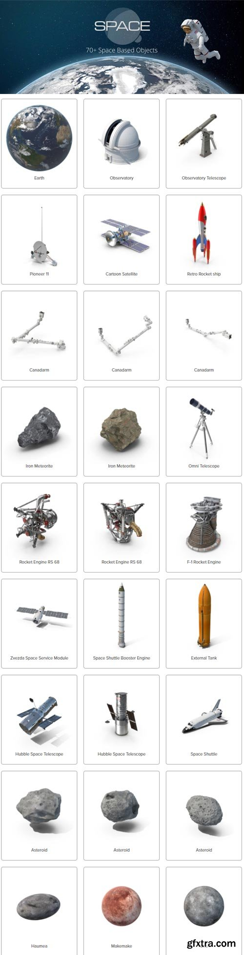 PixelSquid - Space Collection