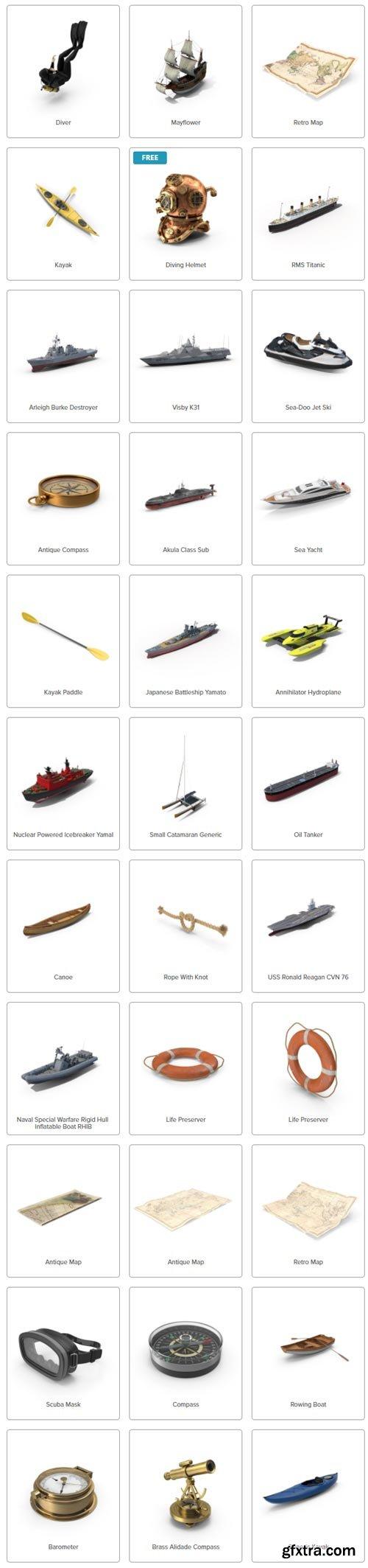 PixelSquid - Nautical Collection
