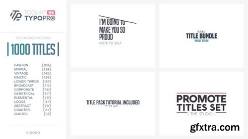 Videohive - Typopro | Typography Pack - Title Animation - Kinetic - Minimal - Vintage V3.5- 20448499