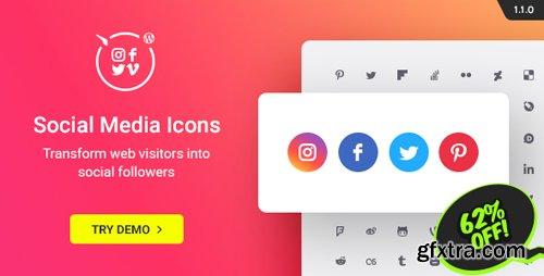 CodeCanyon - WordPress Social Media Icons v1.1.0 - Social Icons Plugin - 20612375