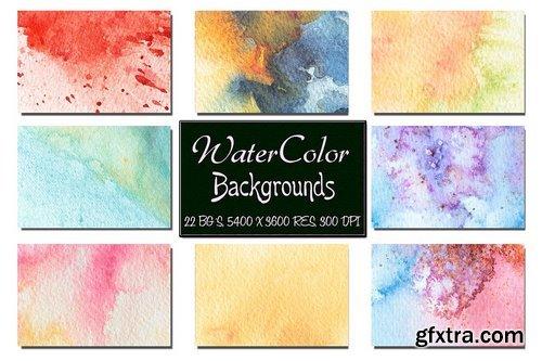 CM - 50%off Watercolor Backgrounds Bundle 1432602