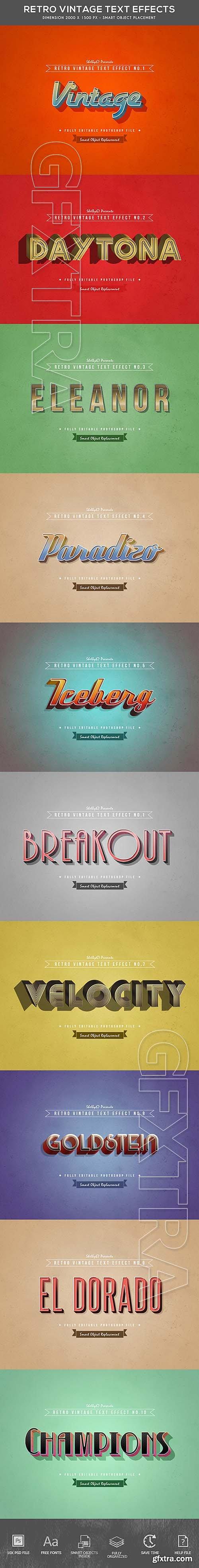GraphicRiver - Retro Vintage Text Effects 21142668