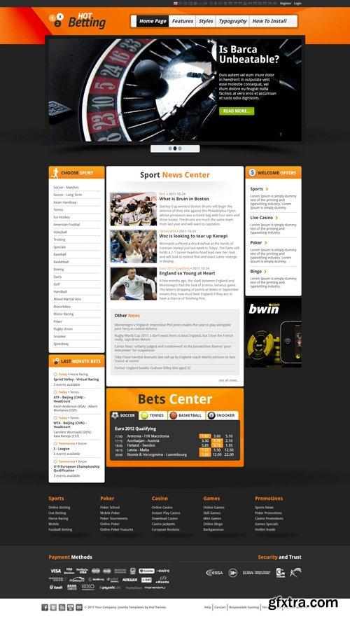 HotJoomlaTemplates - HOT Betting - Joomla Template (Update: 11 October 17)