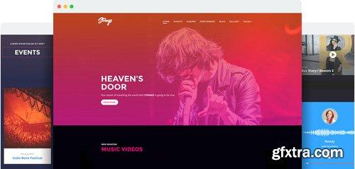 JoomShaper - Strings v1.4 - Premium Responsive Music Band & Musician Joomla Template