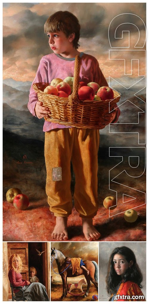 Works of artist Arsen Kurbanov