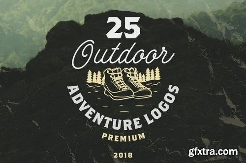 25 OUTDOOR ADVENTURE LOGOS  BADGES