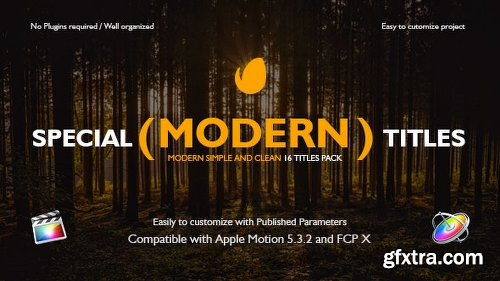 Videohive Special Modern Titles Pack for FCPX 20708205