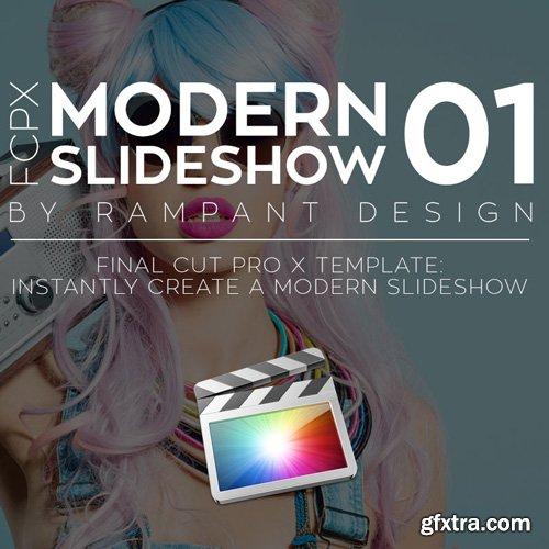 Rampant Design Tools - FCPX Modern Slideshow 01