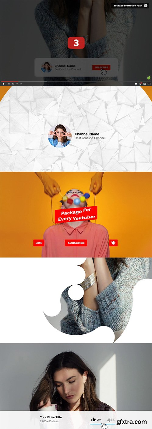 Videohive - Youtube Promotion Pack 3 - 21175895