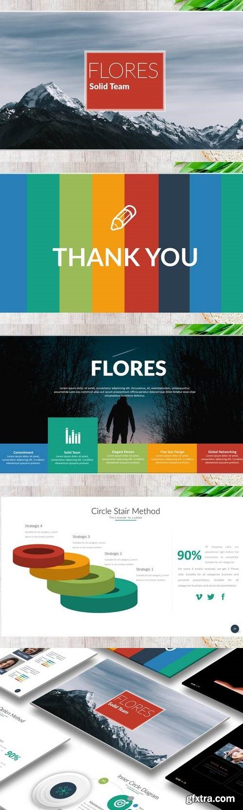 FLORES Powerpoint Template