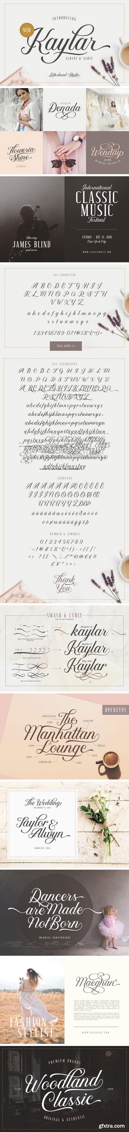 CM - Kaylar - Elegant Script & Serif 2137364