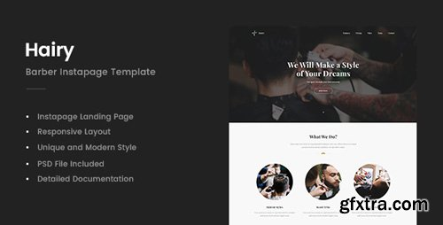 ThemeForest - Hairy v1.0 - Barber Instapage Template - 21153061