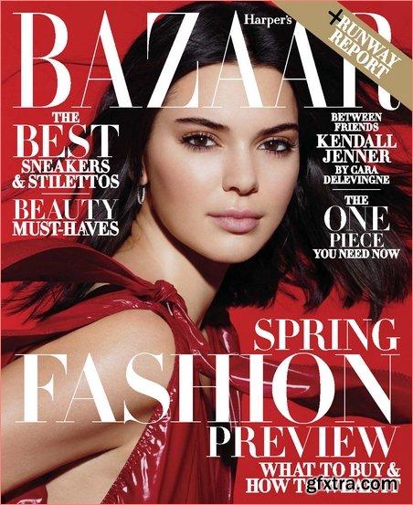 Harper\'s Bazaar USA - February 2018