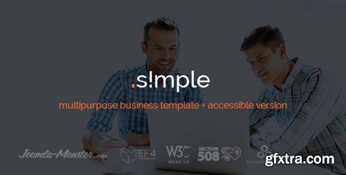 ThemeForest - JM Simple v1.03 - multipurpose business Joomla template - 15205484