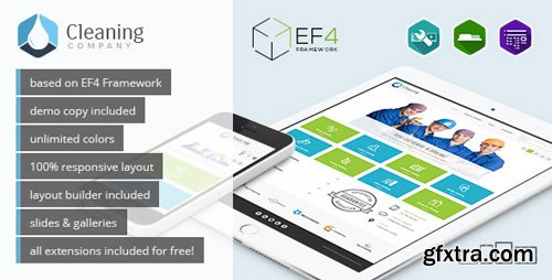 ThemeForest - Cleaning Company v1.03 - multipurpose services Joomla template - 11457703