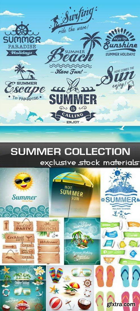 Summer Design Elements Collection #1, 25xEPS