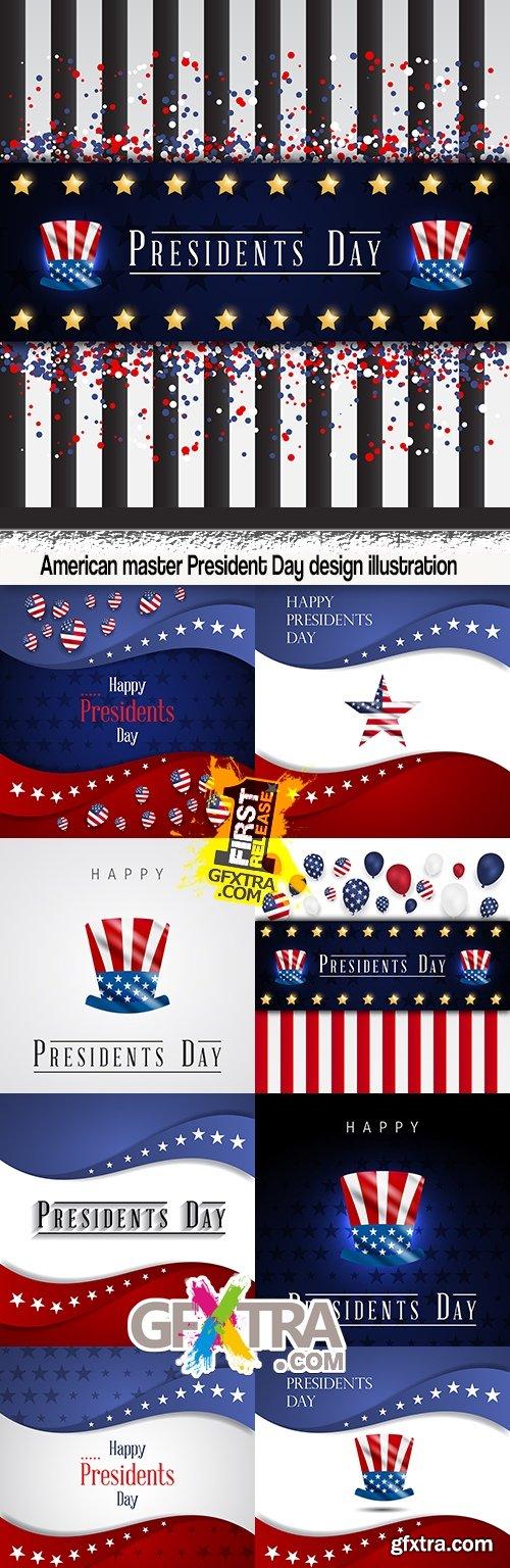American master President Day design illustration