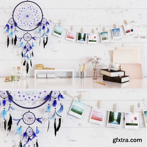 Accessories for desktop and Dreamcatcher