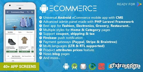 CodeCanyon - Android Ecommerce v2.1 - Universal Android Ecommerce / Store Full Mobile App with Laravel CMS - 20952416
