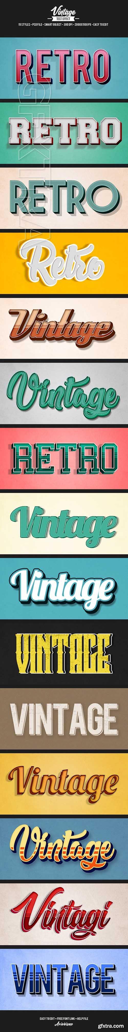 Graphicriver - 15 Retro Vintage Text Effects 21314565