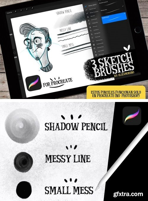 CM - Sketch brushes for PROCREATE 2094754