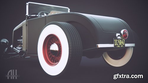 32 Ford Hot Rod 3D Model