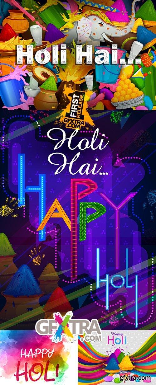 Phalgun Purnima holi festive celebration india decorative poster