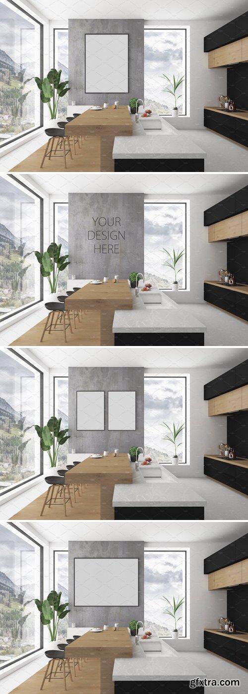 CM - Kitchen mockup - blank wall mockup 2203542