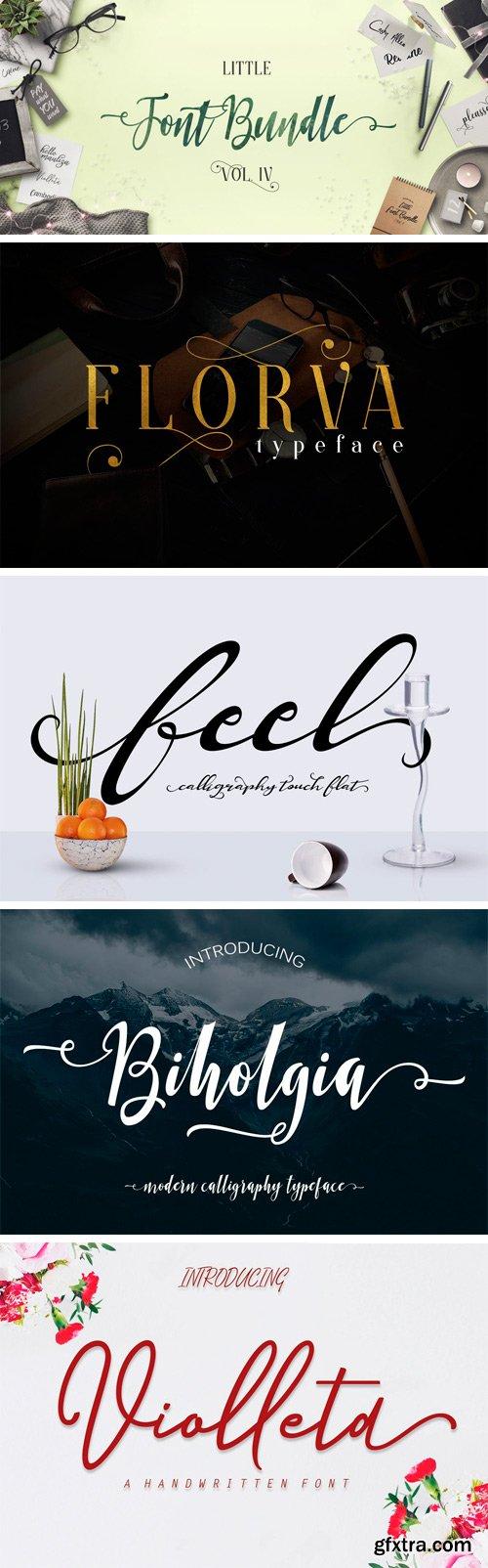 Fontbundles - The Little Font Bundle Volume IV