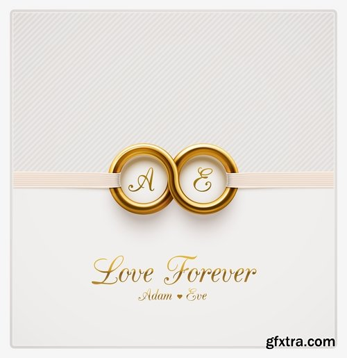 Wedding Rings Ring Wedding Invitation Card 25 Eps Gfxtra